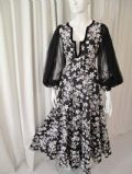 1970's THEA PORTER black and white tapestry vintage dress  **SOLD**